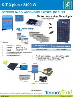 Imagén: KIT 3 Plus Fotovoltaico Autónomo  2400W